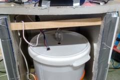 La caja para controlar la temperatura