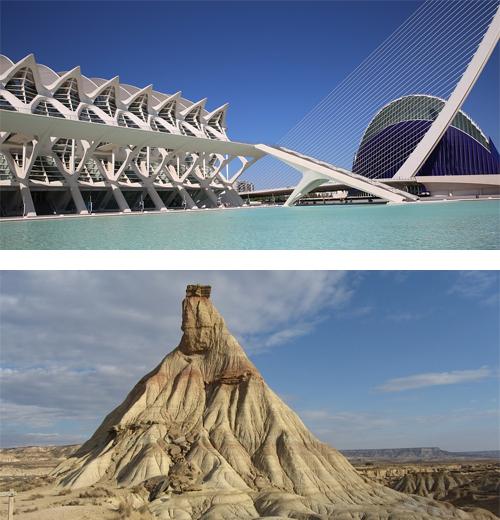 Valencia y las Bárdenas de Navarra