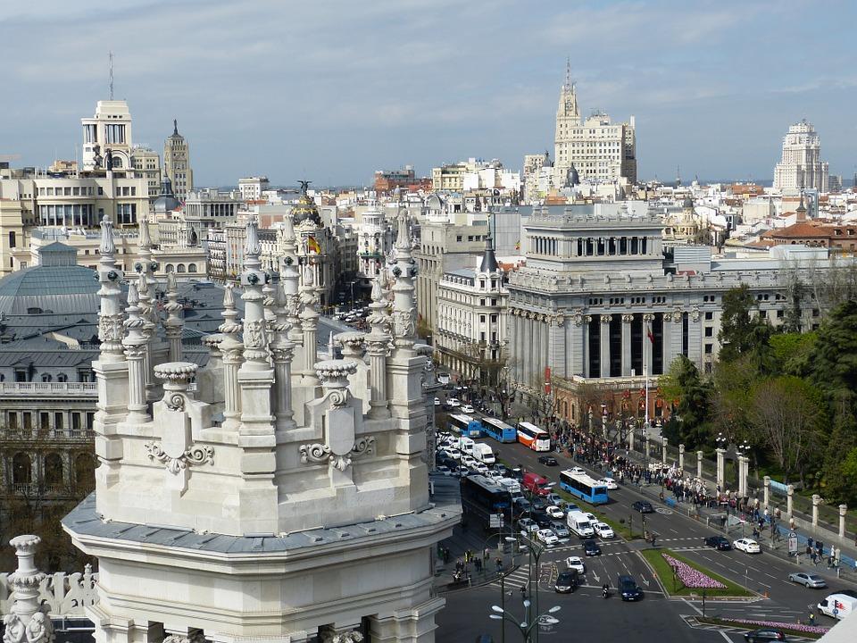 Vista general de Madrid desde el Palacio de Cibeles.