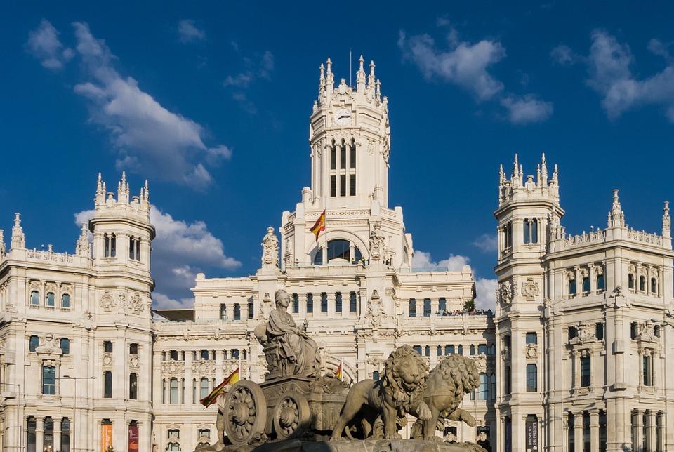 Vista del Palacio de Comunicaciones de Madrid