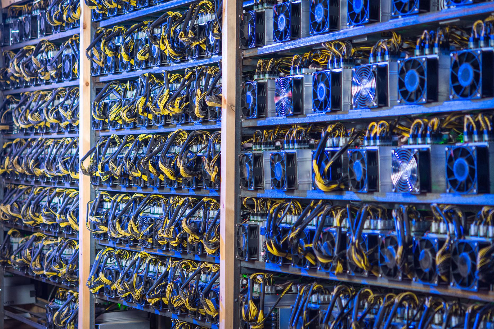 Granjas de minado de criptomonedas