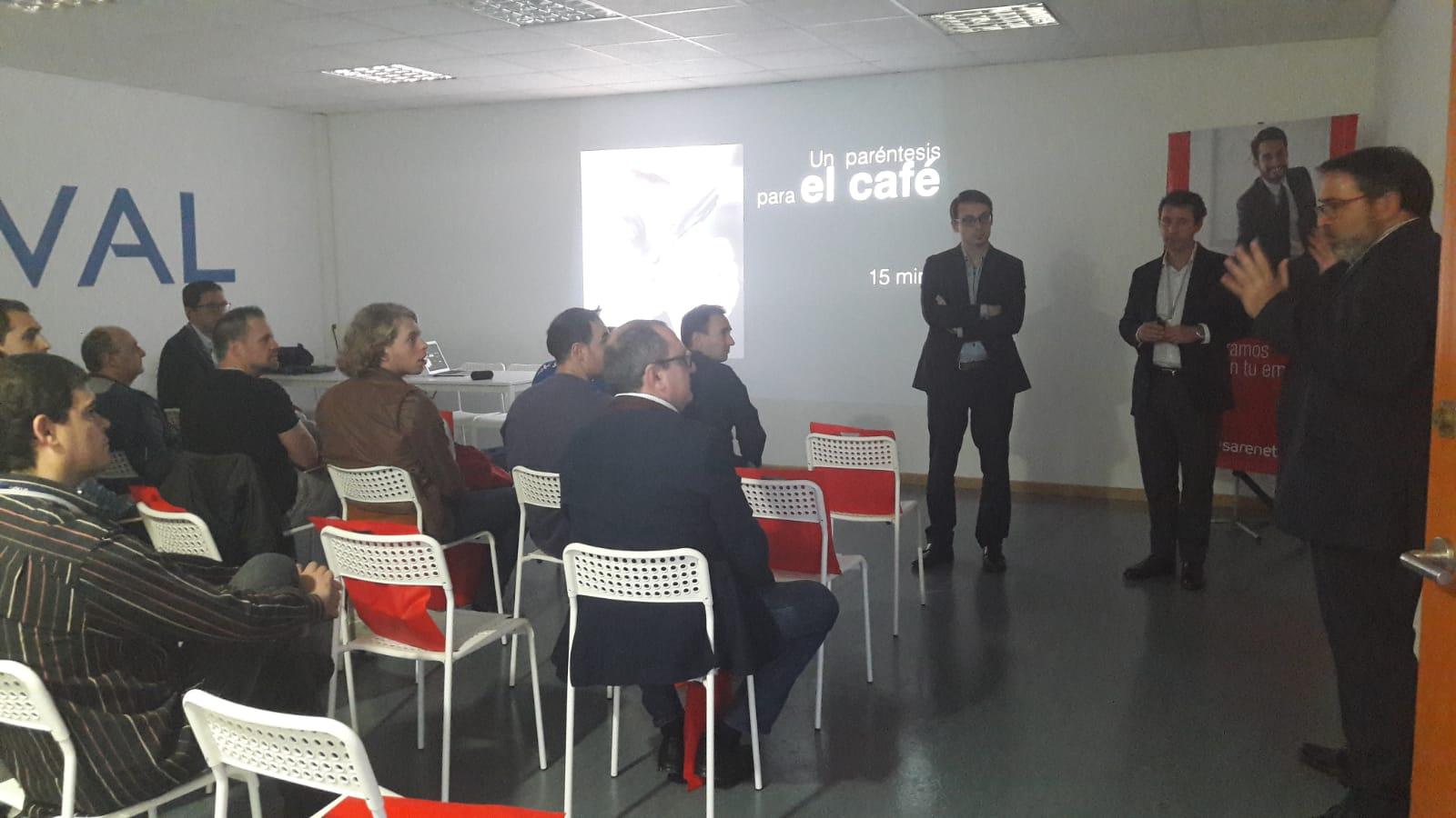 Aitor Jerez, director comercial de Sarenet, en la jornada de Nixval