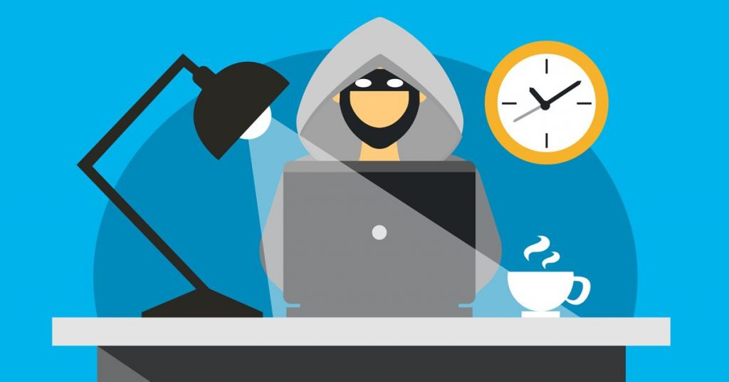 Cibercriminal realizando un ataque