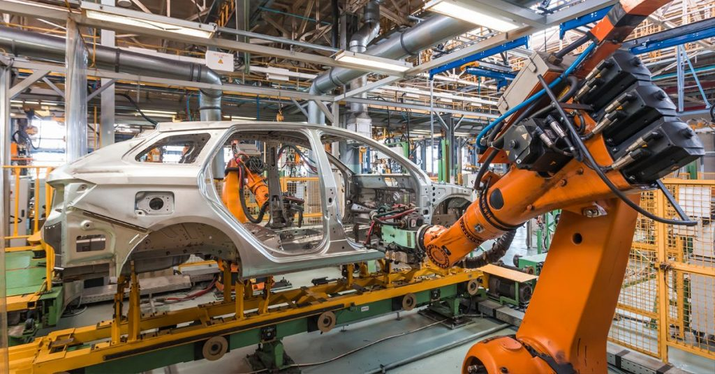 Cadena de montaje robotizada (IoT)