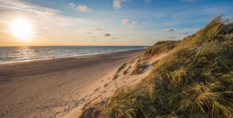 Costa de la península de Jutlandia (Dinamarca)