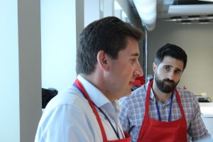 José Luis Lejonagoitia en el taller de pan